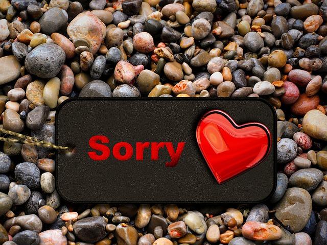 El pedido de perdön es entender el porque de nuestros actos